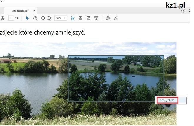 kopiowanie zdjęcie z pliku pdf