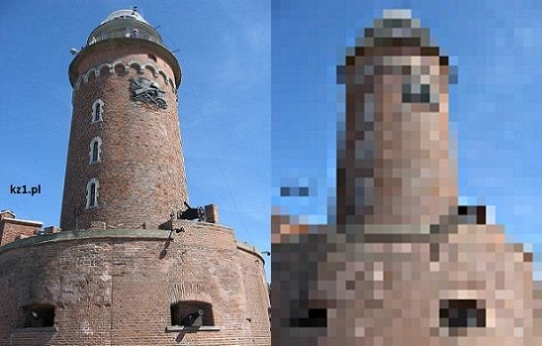przykład pikselozy zdjęcia które ma niskie DPI