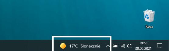 pogoda na pasku zadań windowsa