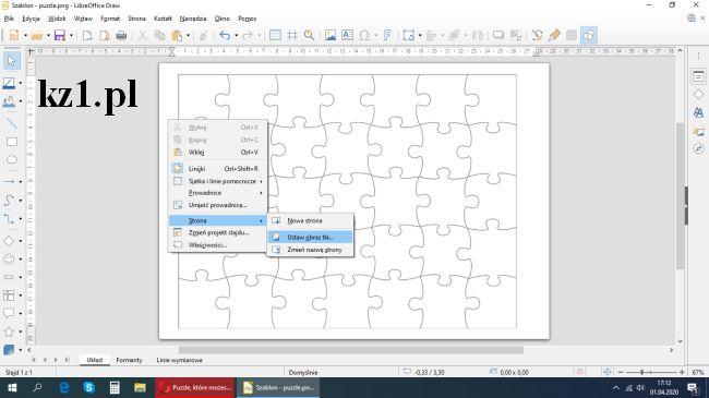 puzzle szablon draw