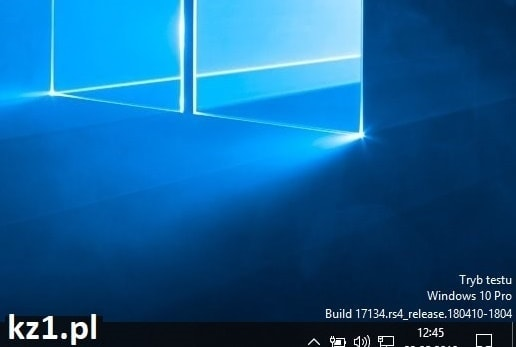 tryb testu w windows 10