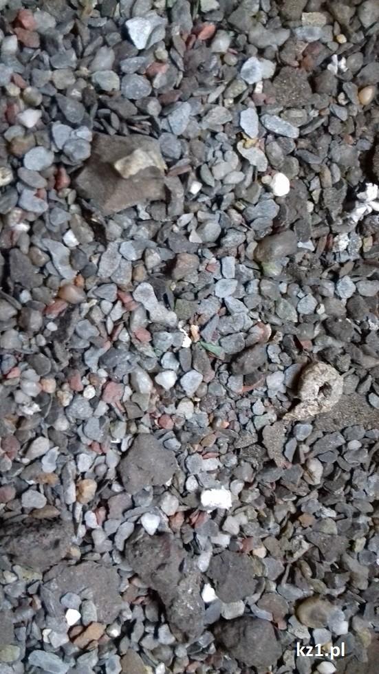 kamienie z nieczystości z rynny