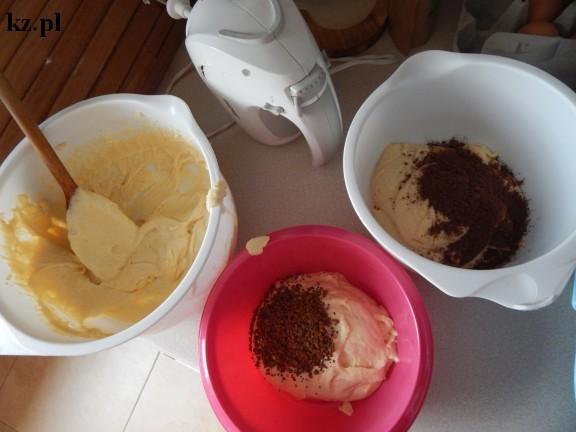 trzy masy na ciasto