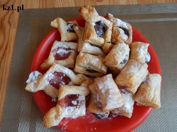 ciasteczka francuskie z dżemem i czekoladą