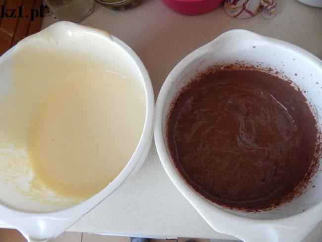 masa waniliowa i kakaowa na sernik