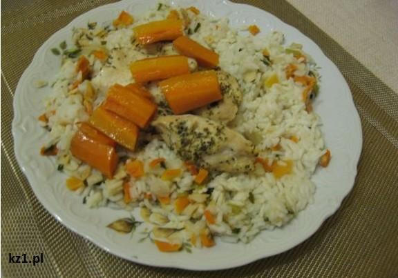 ryż warzywny i kurczak