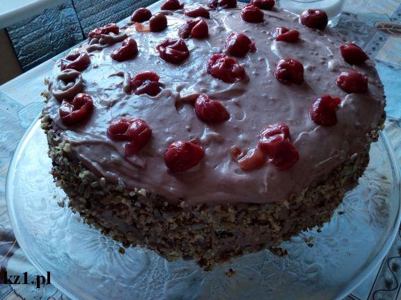 tort węgierski z wiśniami