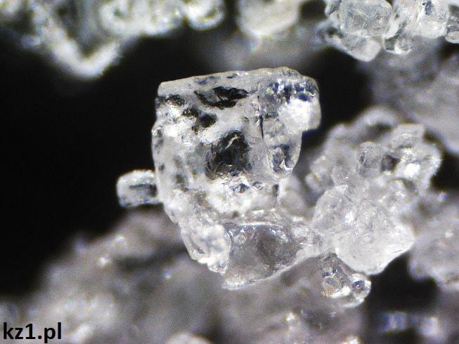 sól pod mikroskopem
