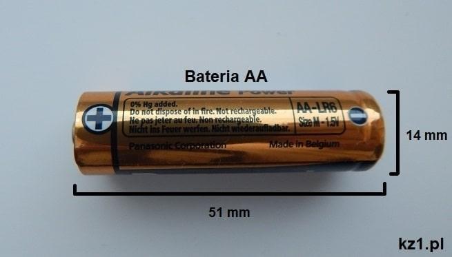 bateria aa wygląd i wymiary