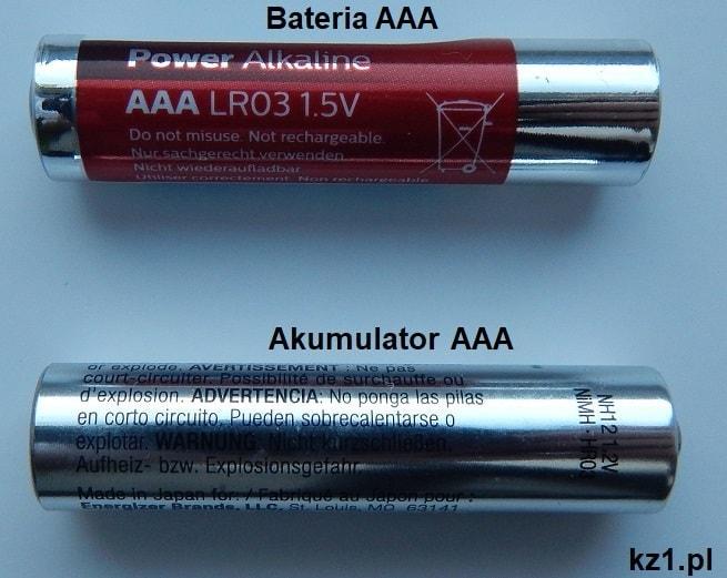 bateria i akumulator aaa
