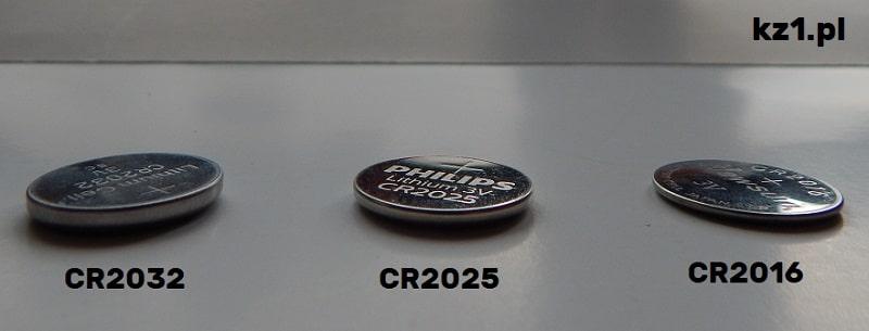 baterie cr2032, cr2025 i cr2016