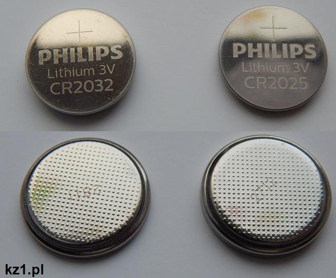 baterie CR2032 i CR2025