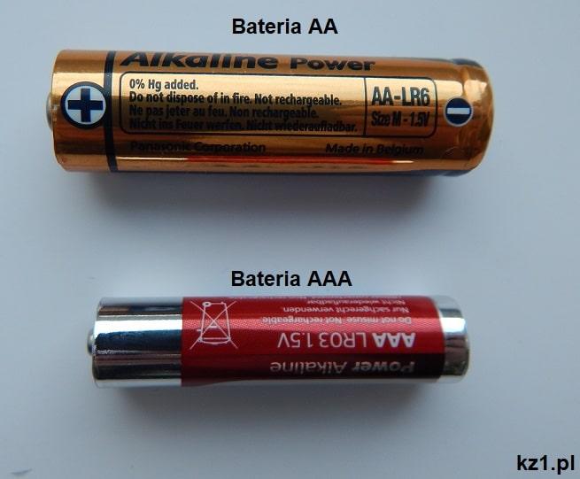 różnica między baterią AA i AAA