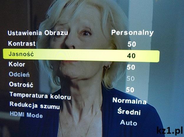 jasność w telewizorze na 40%