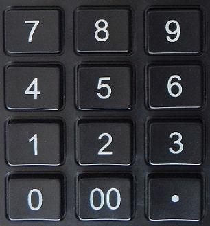 cyfry na kalkulatorze