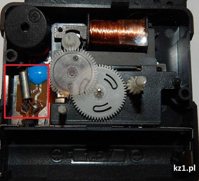 mechanizm kwarcowy zegara