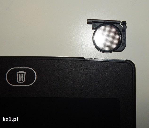 bateria cr2025 w tablecie