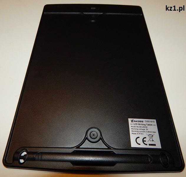 tablet graficzny z tyłu