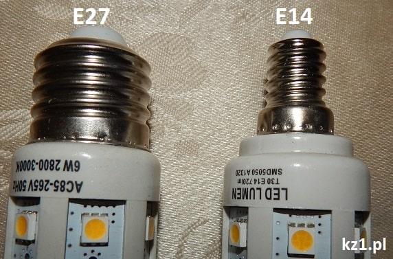 gwinty żarówek E27 i E14