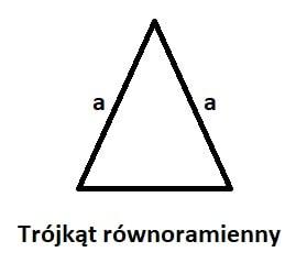 trójkąt równoramienny