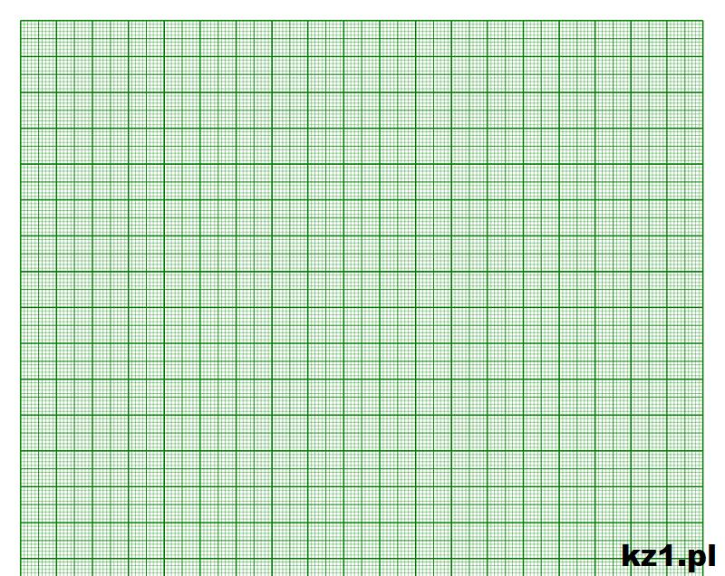 papier milimetrowy o kolorze zielonym