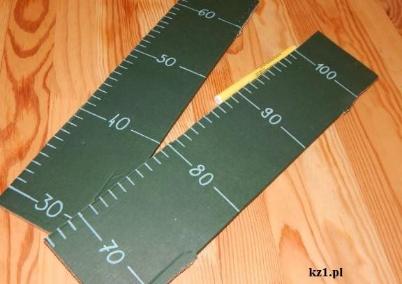 centymetry na miarce