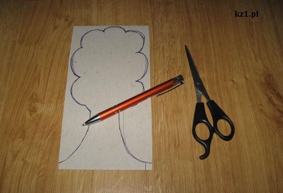 drzewo narysowane na kartce