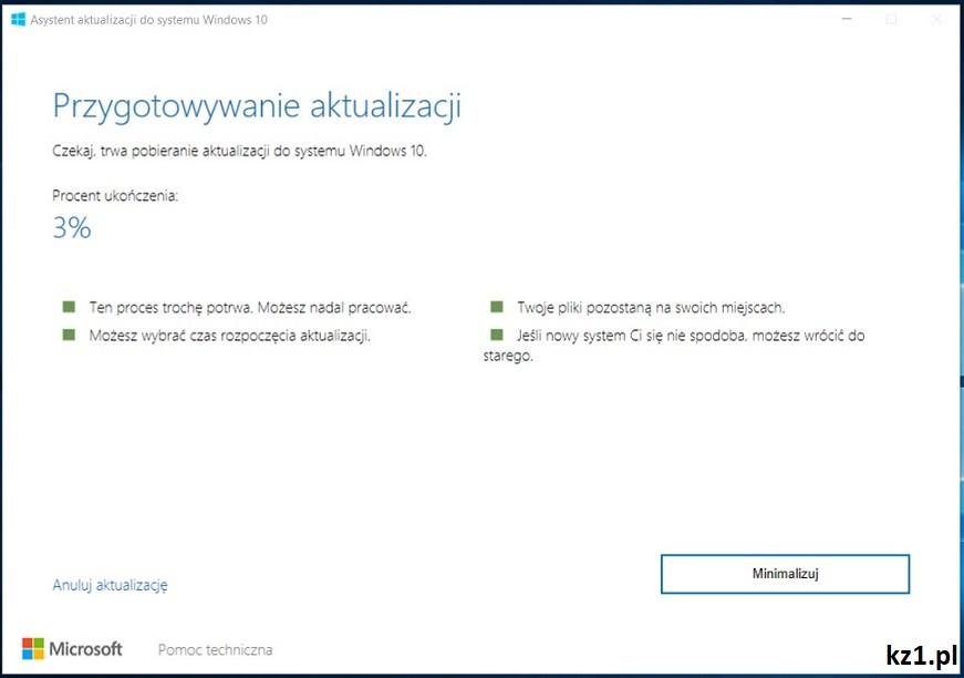 ręczna aktualizacja aktualizacji creators update w windows 10