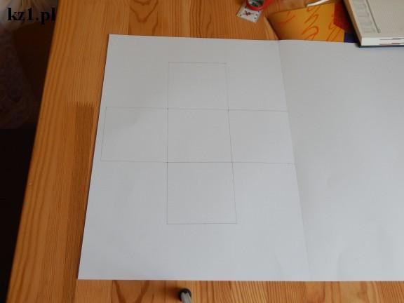 kwadraty na wzór pudełka do wycięcia