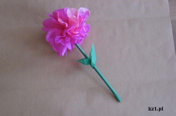 róża z prasowanej bibuły