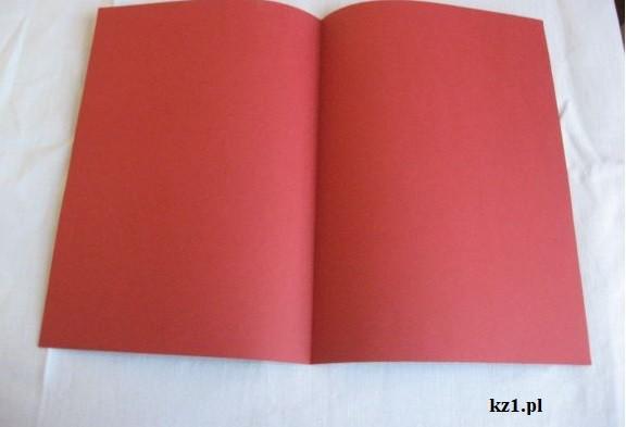 kartka rozkładana jak książka