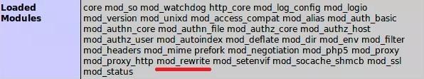zainstalowany moduł mod_rewrite na serwerze