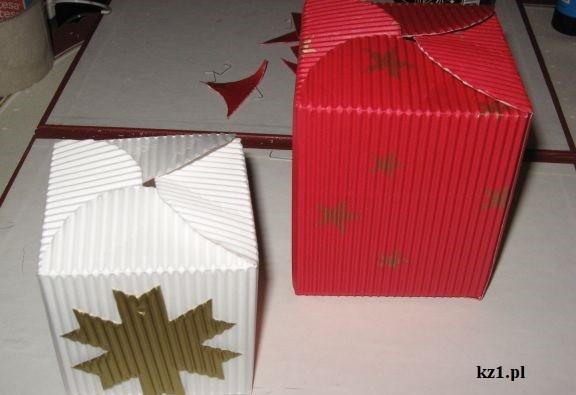 świąteczne pudełka na prezenty
