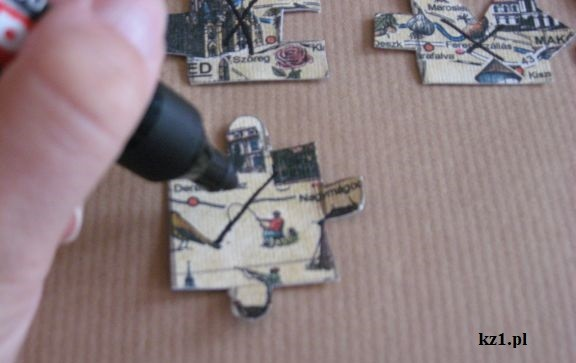 zaznaczanie puzzli