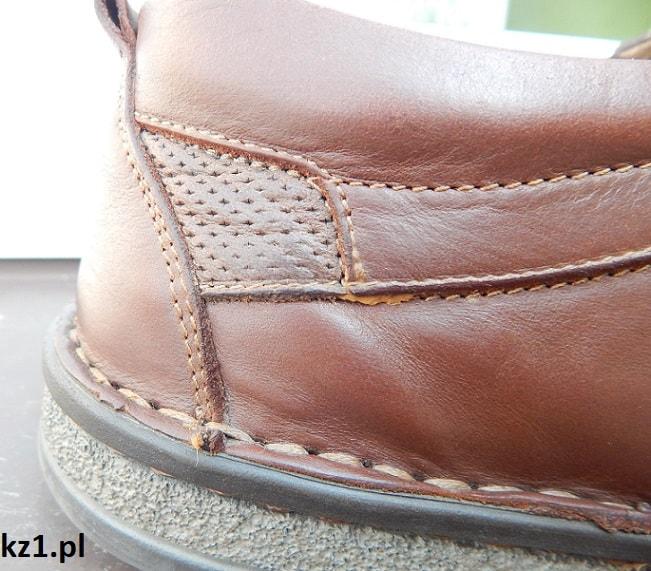 wykremowane buty ze skóry naturalnej licowej