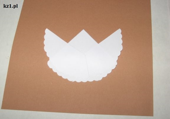 aniołek 2D z papieru