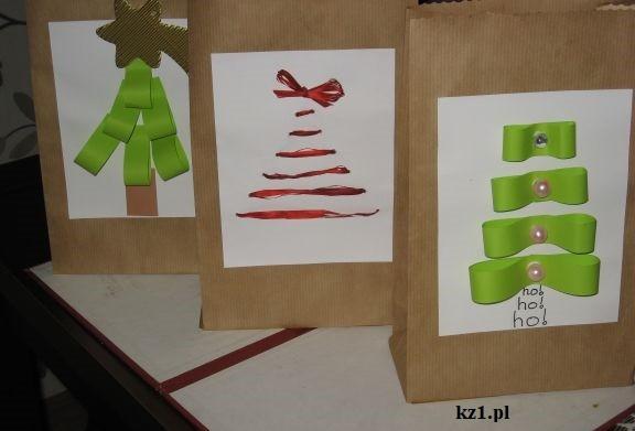wzory na torebki świąteczne własnoręcznie zrobione