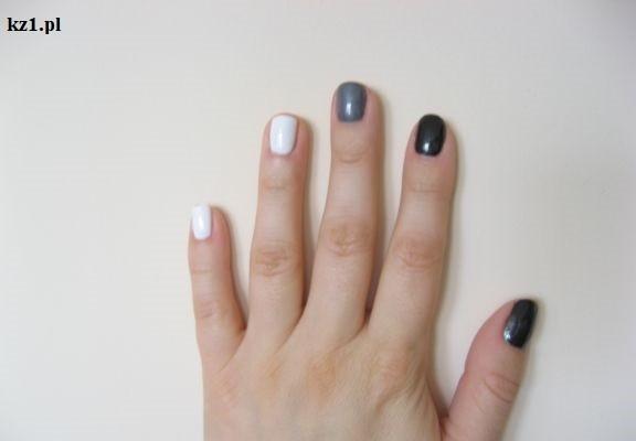 pomalowane paznokcie w kolorach neutralnych