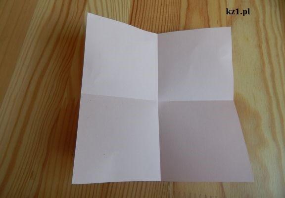 kartka złożona na 4
