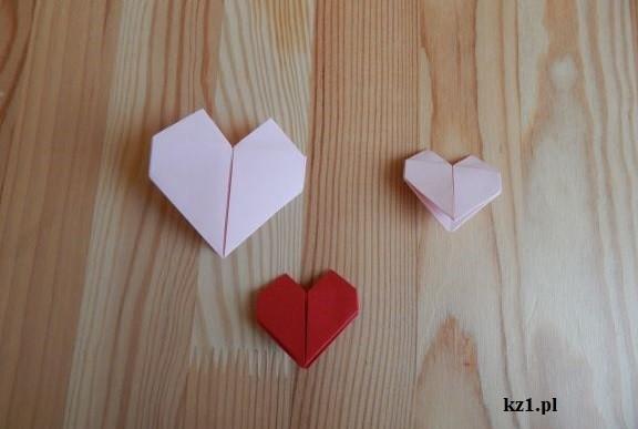 zakładki serduszka origami