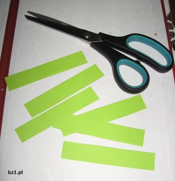 paski z zielonego papieru
