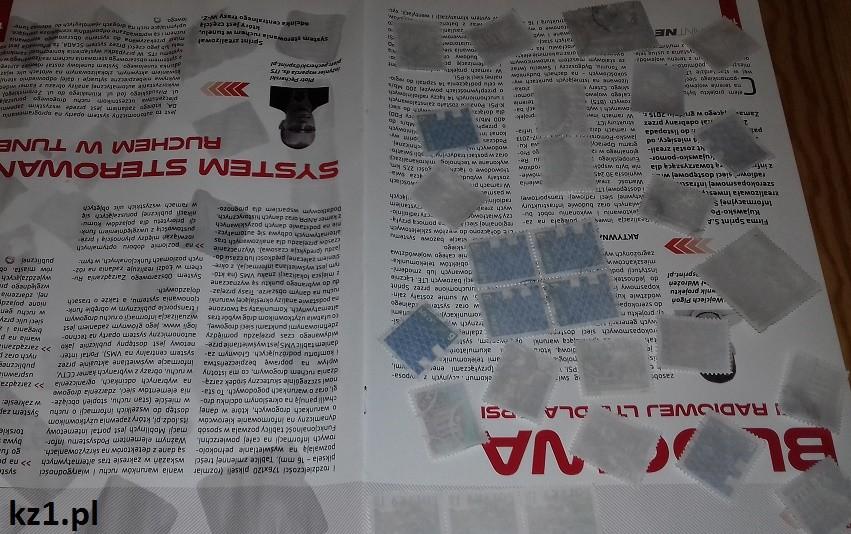 suszenie znaczków po oddzieleniu od koperty