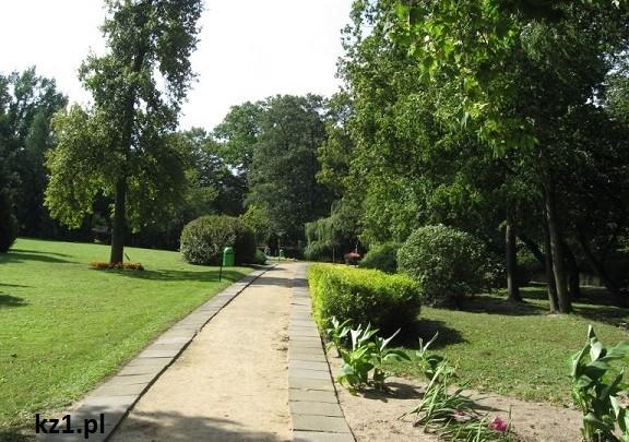 alejka w szafarni w parku