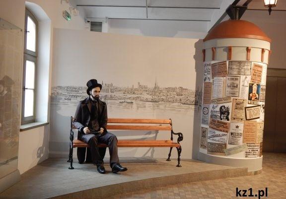 ławeczka w muzeum