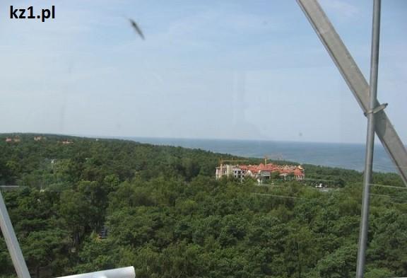 widok z latani na morze