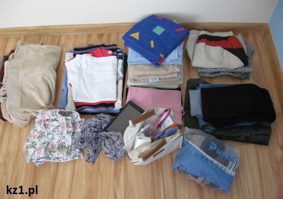 poukładane ubrania