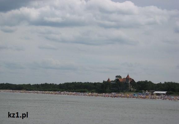 widok na plażę łeba