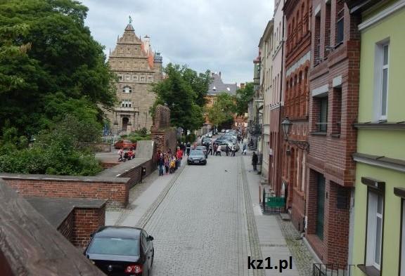 widok z krzywej wieży w Toruniu