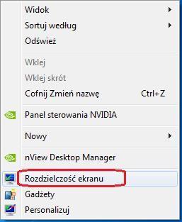 sprawdzanie rozdzielczości pulpitu w windows 7