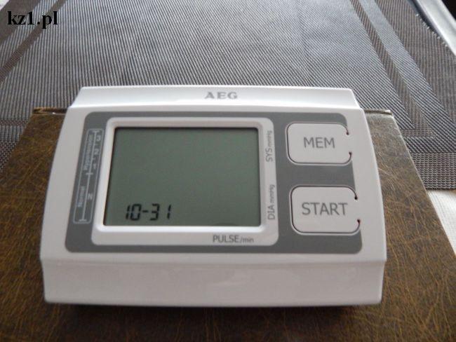 ciśnieniomierz AEG ustawienie daty i godziny